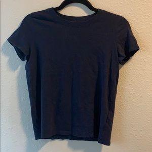 Madewell navy crop tshirt